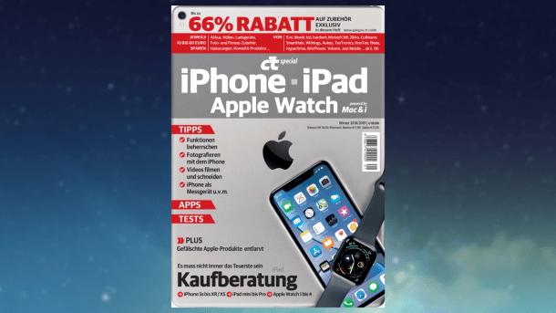 Sonderheft c't iPhone, iPad, Apple Watch: Hardware-Rabatte nur noch für kurze Zeit