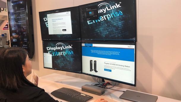 DisplayLink bringt USB-Grafikchip für vier 4K-Displays mit 60 Hz
