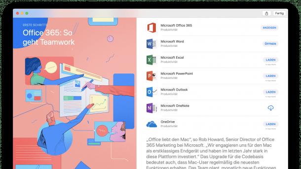 Microsoft Office im Mac App Store