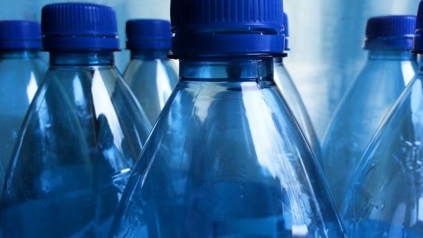 Flaschen aus Bioplastik