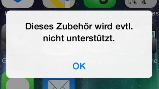 """Warnung vor """"unzulässigem"""" Zubehör: Nutzerin verklagt Apple"""