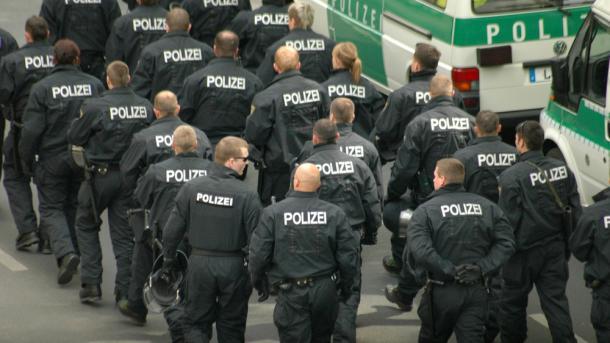 Polizeieinheit in Berlin