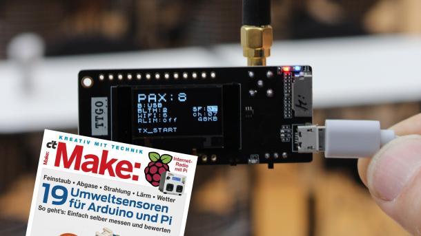 Make 1/19 vor ESP32-Board, auf dem ein Pax-Counter läuft.