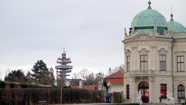 Funkturm, Eckturm des Oberen Belvedere