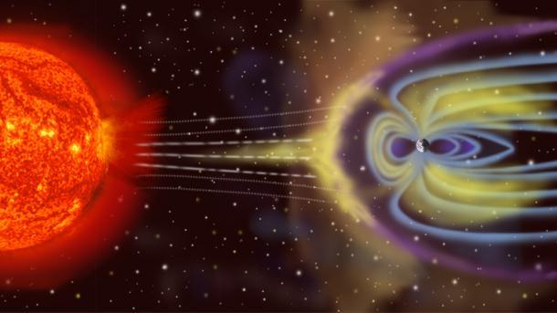 Magnetischer Schutzschild der Erde schwingt wie eine Trommel