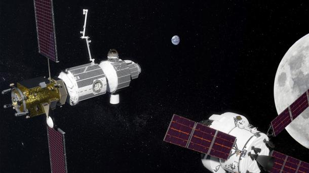 Raumstation, Raummodul, Mond, Erde