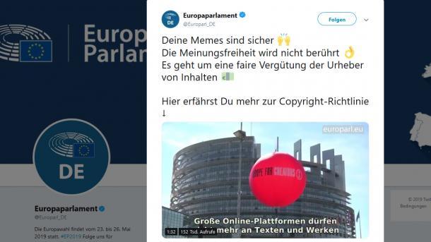Upload-Filter und Artikel 13: Irreführendes Video des EU-Parlaments sorgt für Wirbel