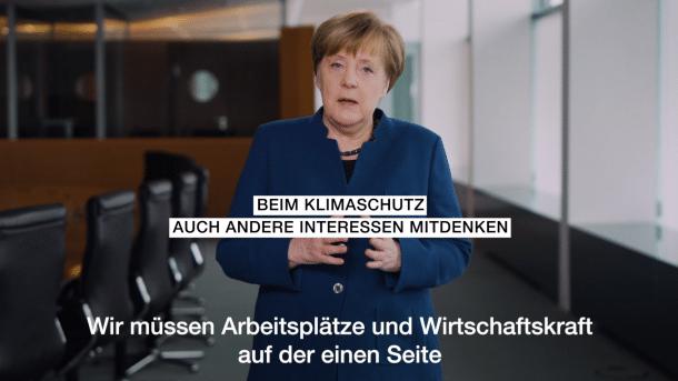 Merkel lobt Schülerdemos für den Klimaschutz