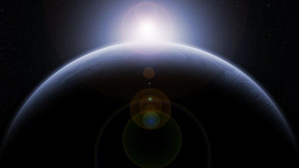 Planet, Globus, Aufgehende Sonne, Science Fiction, Weltraum, All