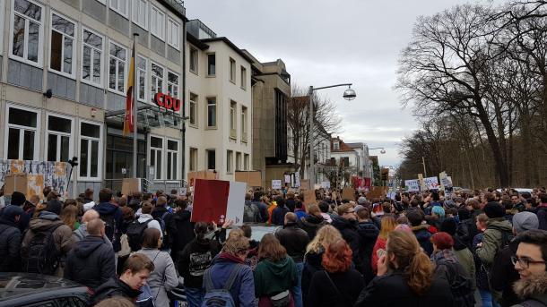 Spontandemo gegen EU-Copyright-Reform und Artikel 13 auch in Hannover