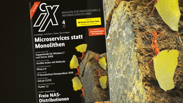 iX 4/2019: Freie NAS-Distributionen, Microservices