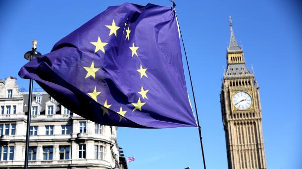 EU-Flagge, darhinter Big Ben