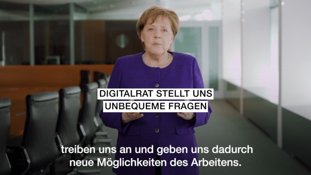 Merkel berät mit Digitalrat über Umgang mit Daten