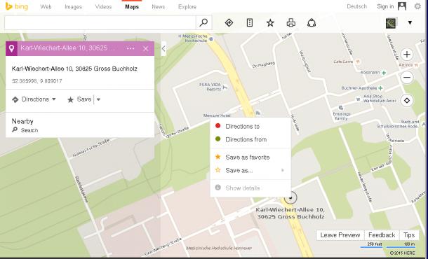 Bing Maps mit Zusatzinformationen zu gesuchten Örtlichkeiten | heise ...