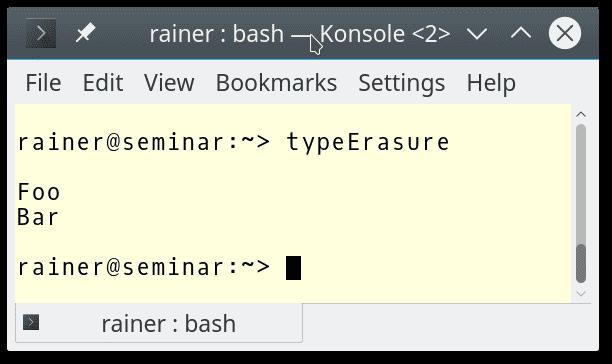 C++ Core Guidelines: Type Erasure mit Templates