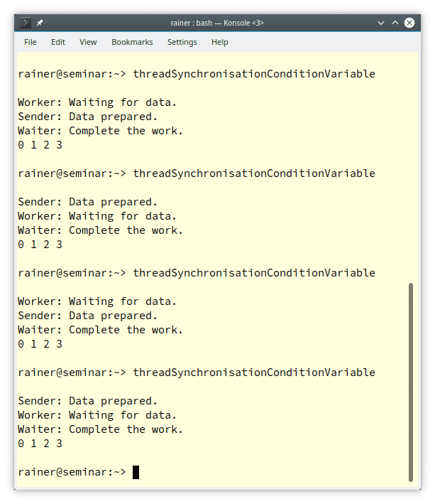 Synchronisation mit atomaren Variablen in C++20