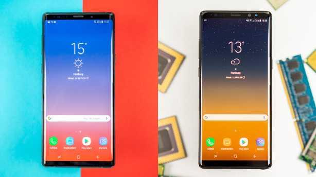 Galaxy Note 9 vs. Galaxy Note 8: Lohnt sich der Wechsel?