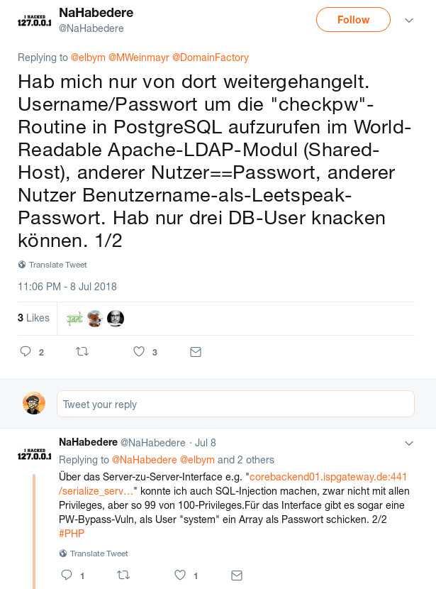 Der mutmaßliche Hacker gibt über Twitter Details des Angriffs preis.