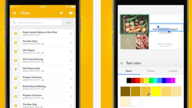 Google-Präsentationsprogramm für iOS unterstützt AirPlay