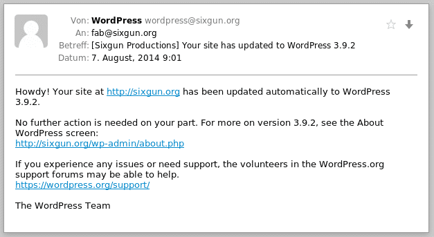 WordPress-Email