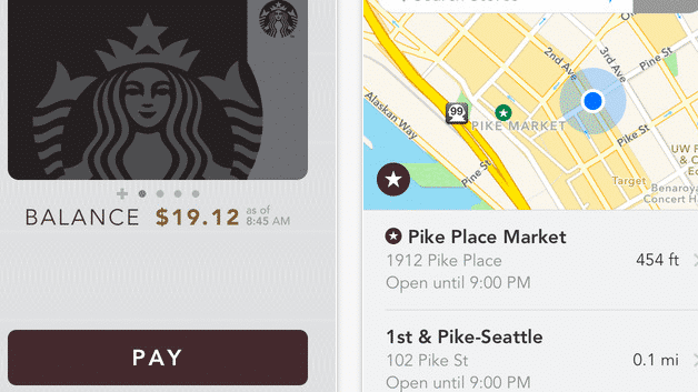 Starbucks-App integriert Apple Pay