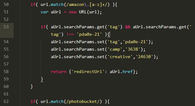 """Die Chrome-Version von """"Photobucket Hotlink Fix"""" sucht auf Webseiten nach Amazon-Werbelinks und tauscht die enthaltene ID aus. So erhält der Add-on-Programmierer die Provisionen."""