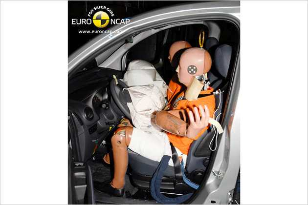 Wegen fehlender Sicherheitsausstattung erreicht der Citroën Nemo nur drei Sterne.