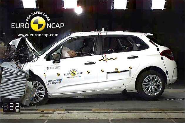 Neuer Citroën C4: Fünf Sterne trotz mäßiger Ergebnisse beim Heckaufprall.