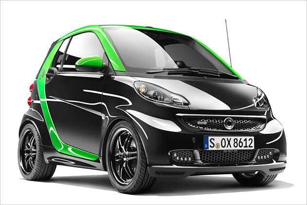 Auffällig und mit Elektro-Power: der neue Smart Brabus electric drive