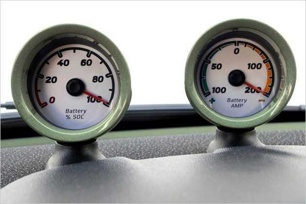 """Hier lassen sich der Ladezustand der Batterie und die abgerufene Energie ablesen. Die Reichweite des ed gibt Smart mit """"deutlich mehr"""" als 140 Kilometern an."""