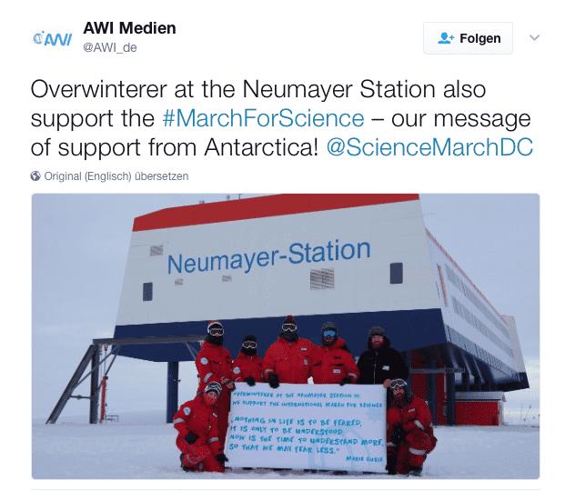 Marschieren für die Wissenschaft, auch wenns kalt ist: Polarforscher von der Station Neumayer 3.