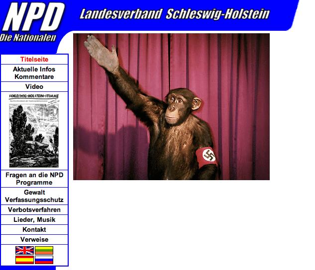 via XSS manipulierte NPD-Website