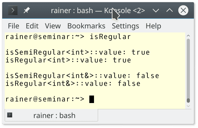 C++ Core Guidelines: Reguläre und semireguläre Datentypen