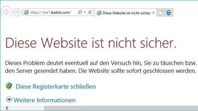 Microsoft blockiert SHA-1 in Edge und Internet Explorer