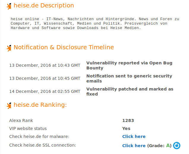 """Die XSS-Lücke bei Heise wurde als """"Coordinated Disclosure"""" gemeldet; anders als bei Full Disclosure bleiben die Details zunächst unter Verschluss."""