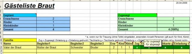 Aha Excel Hochzeitsplaner Heise Download