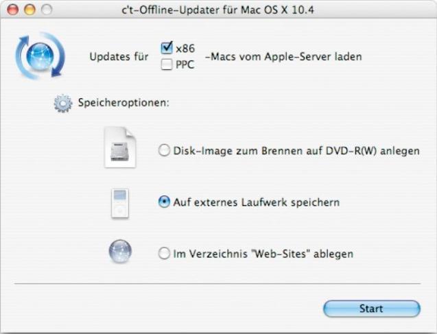 c't Offline Update für Mac OS X 10 4 (OliU) | heise Download