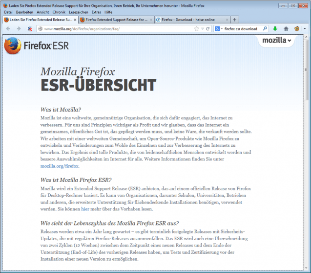 Firefox ESR | heise Download