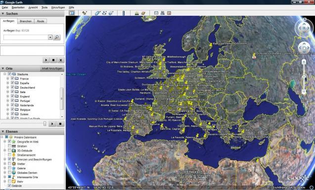 Football stadiums around the world | heise Download on