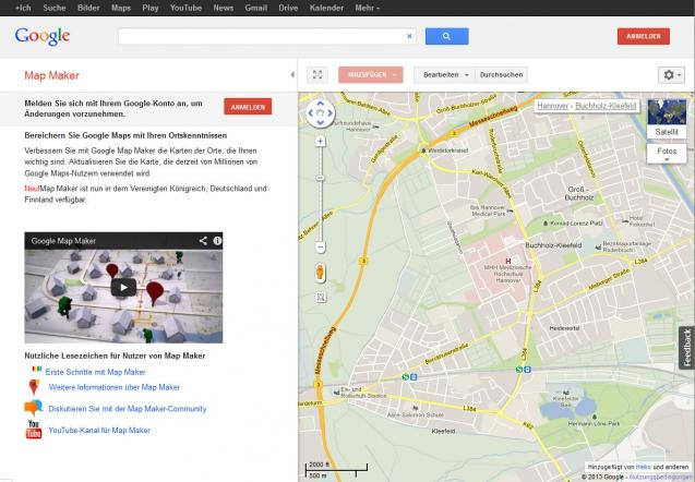 Google Map Maker | heise Download on