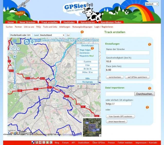 Gpsies Karte.Gpsies Com Download Bei Heise
