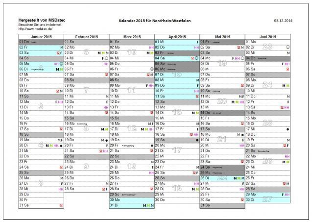 Kalender-Excel | heise Download