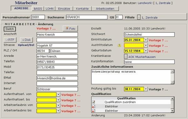 Lendwork Software Zeitarbeit | heise Download