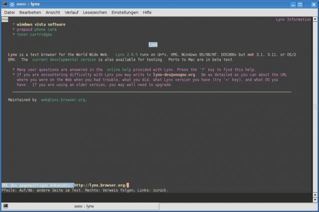 Text Browser Windows