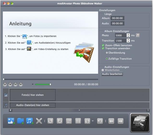 Auf dem Mac kostenlos Diashows erstellen. Videoclips, Musik und mehr hinzufügen.