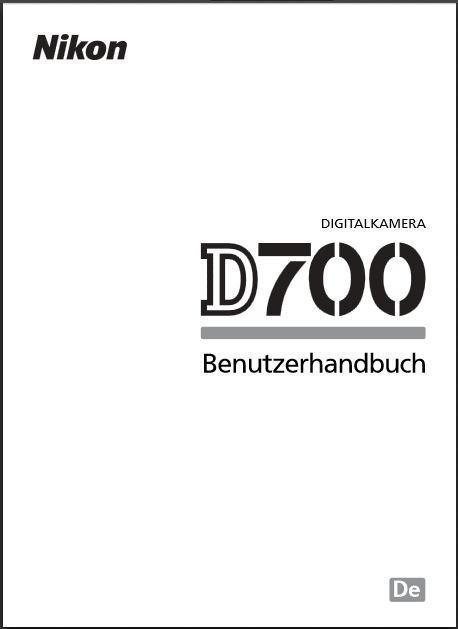 bedienungsanleitung nikon d700