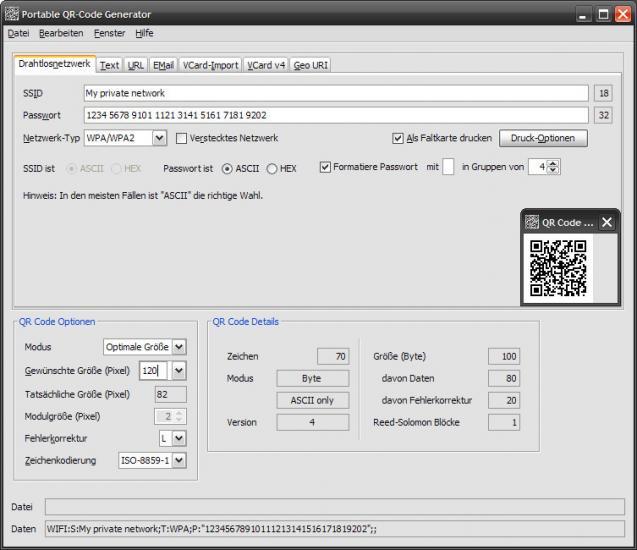 Portable QR-Code Generator   heise Download