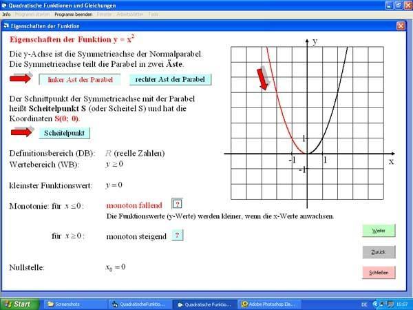Quadratische Funktionen und Gleichungen | heise Download