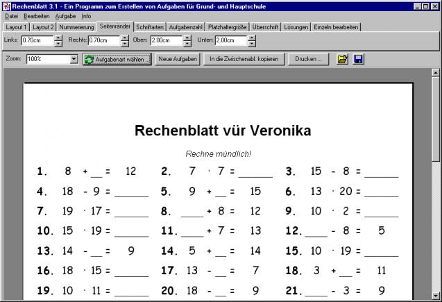 Rechenblatt | heise Download