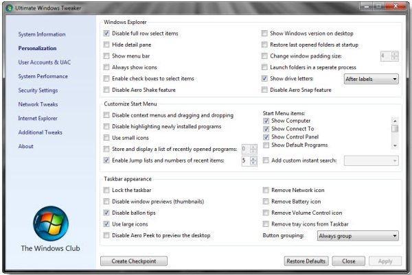 Ultimate Windows Tweaker | heise Download